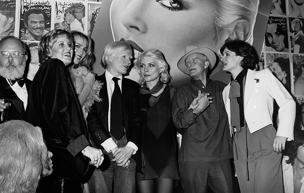 Lorna Luft, Jerry Hall, Andy Warhol, Debbie Harry, Truman Capote and Paloma Picasso - Studio 54
