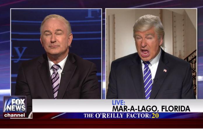 Alec Baldwin as Bill O'Reilly and Donald Trump