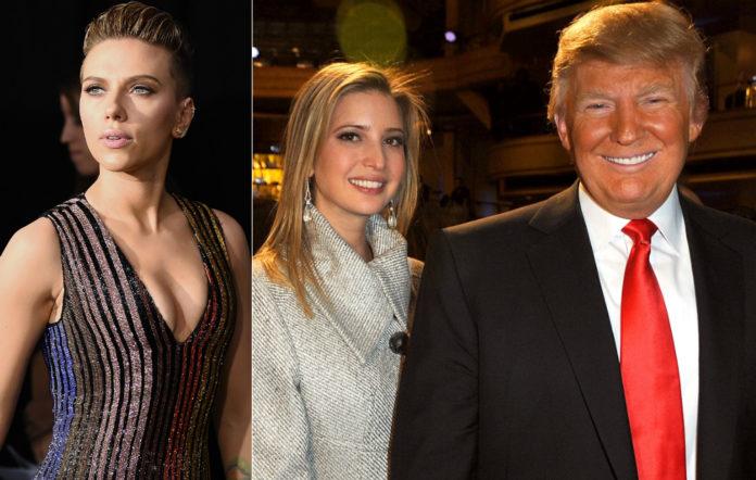 Scarlett Johansson, Ivanka and Donald Trump