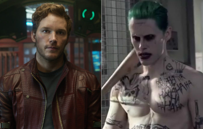 Chris Pratt in 'Guardians Of The Galaxy' and Jared Leto in 'Suicide Squad'