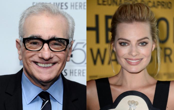 Martin Scorsese and Margot Robbie