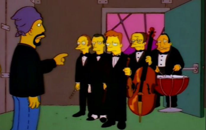 Cypress Hill and The London Symphony Orchestra in 'The Simpsons'