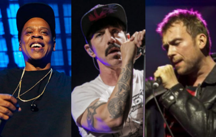 Jay Z, Red Hot Chili Peppers, Gorillaz