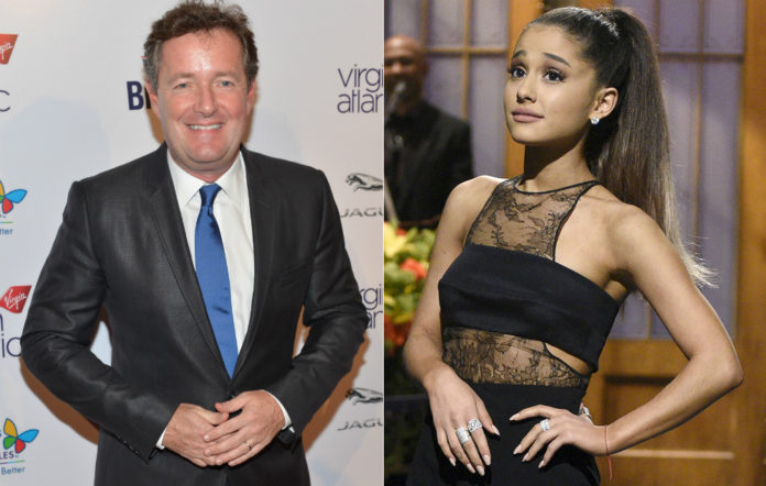 Piers Morgan and Ariana Grande