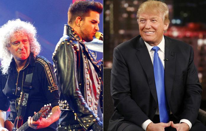 Brian May, Adam Lambert, Donald Trump