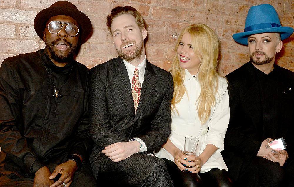 Will.i.am, Ricky Wilson, Paloma Faith and Boy George