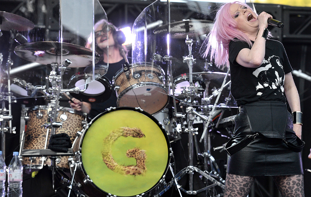 Butch Vig with Shirley Manson in Garbage