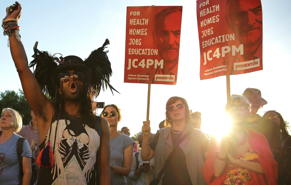 Campaigners for Jeremy Corbyn