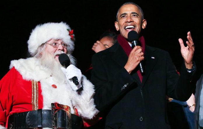 Father Christmas and Barack Obama