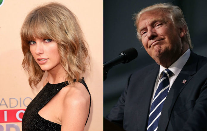Donald Trump driving Taylor Swift