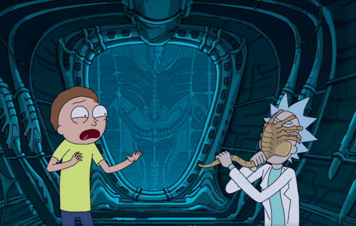Rick and Morty vs Alien: Covenant – see them attacked by facehuggers