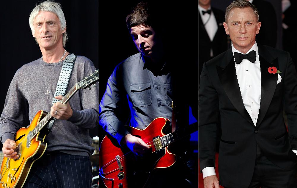 Paul Weller, Noel Gallagher and Daniel Craig