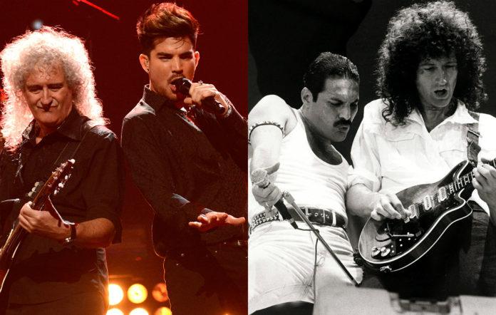Queen's Brian May, Adam Lambert and Freddie Mercury