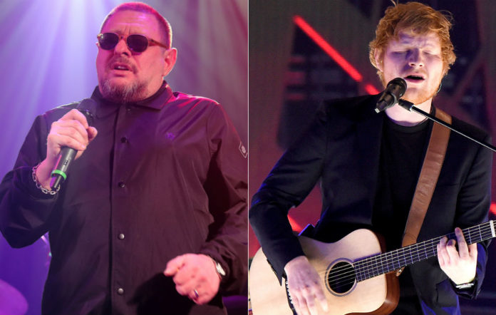 Shaun Ryder and Ed Sheeran