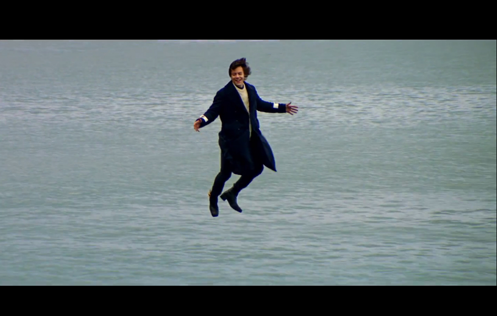 Harry Styles in the 'Sign Of The Times' video