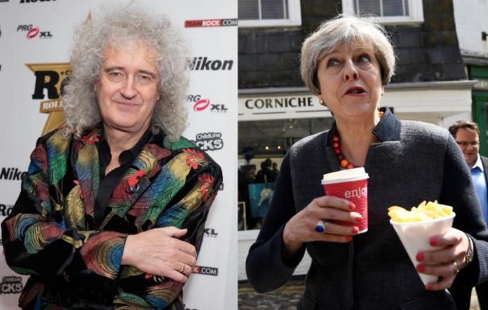 Brian May / Theresa May