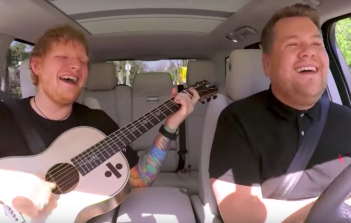 Ed Sheeran and James Corden on Carpool Karaoke