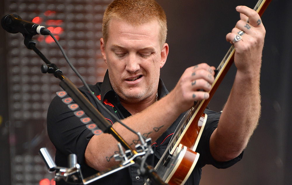 Josh Homme at Chicago's Lollapalooza, 2013
