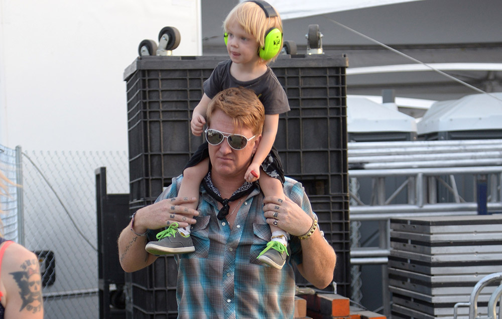 Josh Homme and son