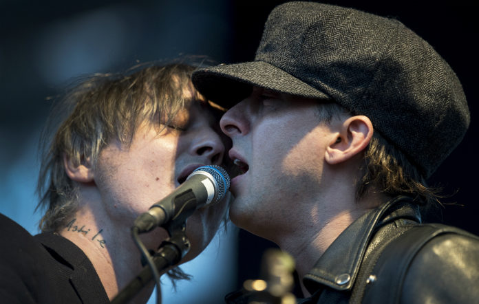 Pete Doherty and Carl Barat in The Libertines
