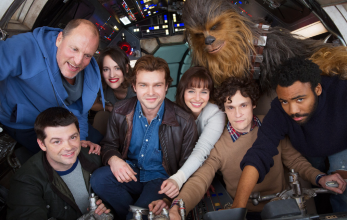 The cast of the Han Solo film