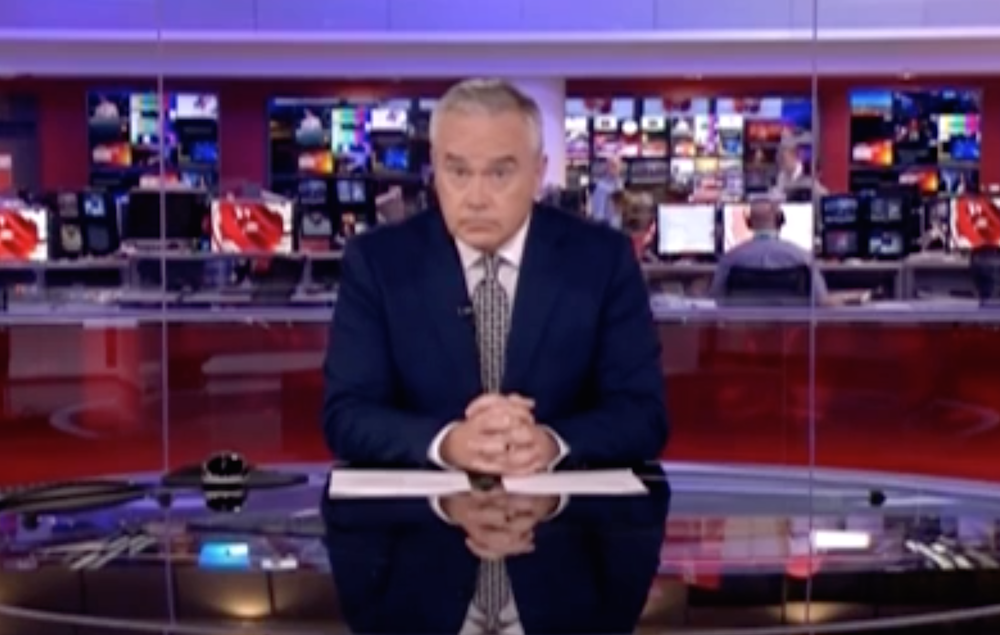 Huw Edwards silent News At Ten