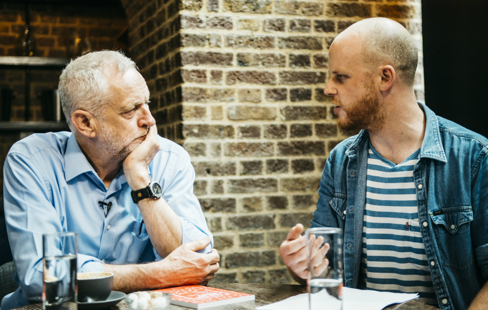 Jeremy Corbyn sits down with NME editor Mike Williams to answer your questions