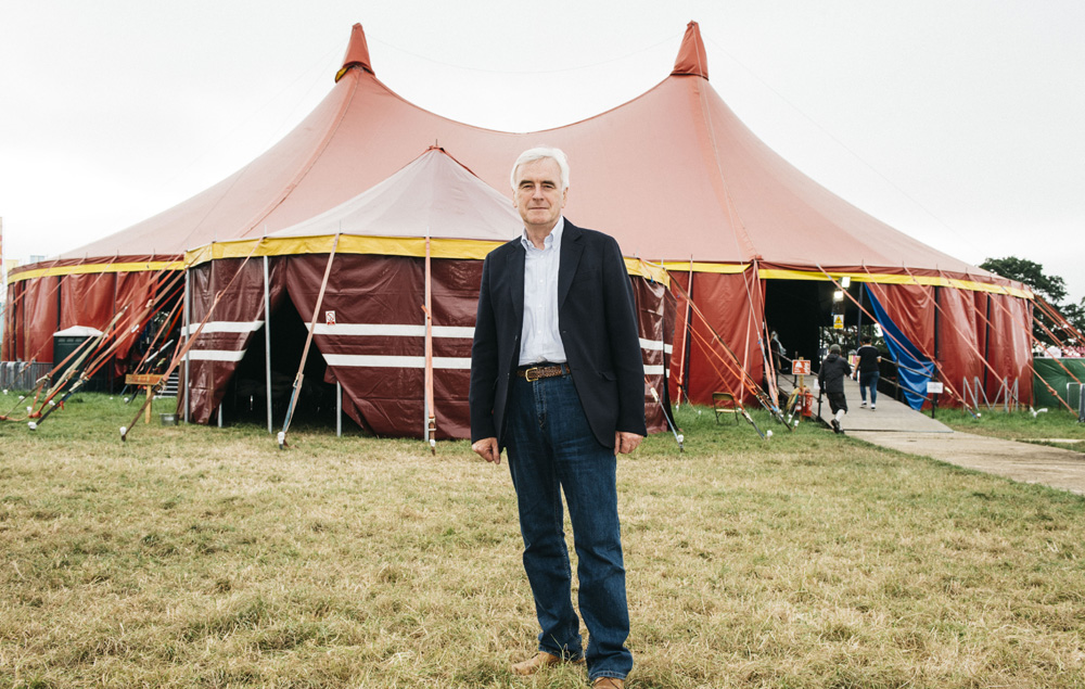 John McDonnell at Glastonbury 2017
