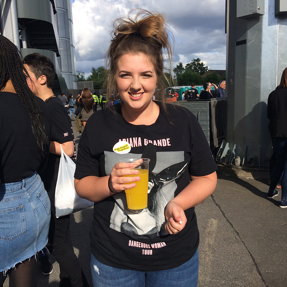 One Love Manchester attendee