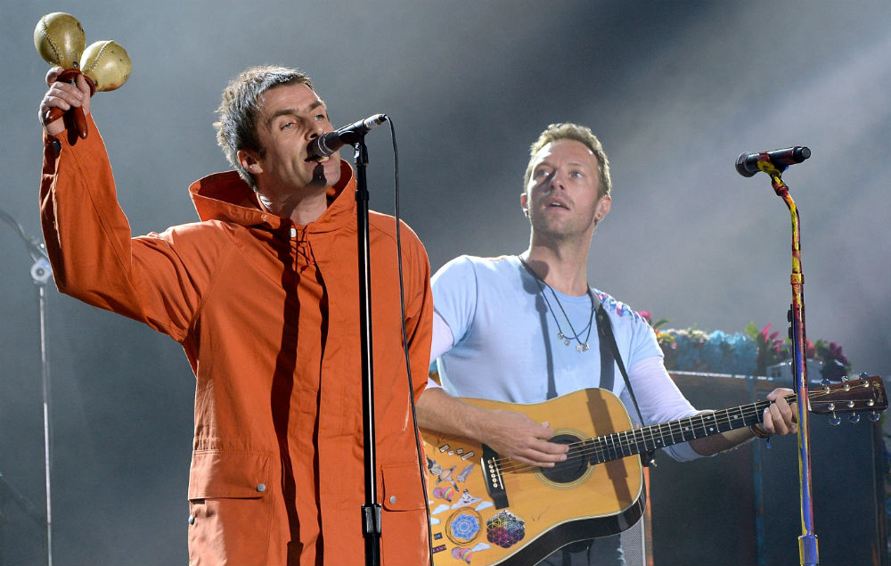 Liam Gallagher at Chris Martin at One Love Manchester