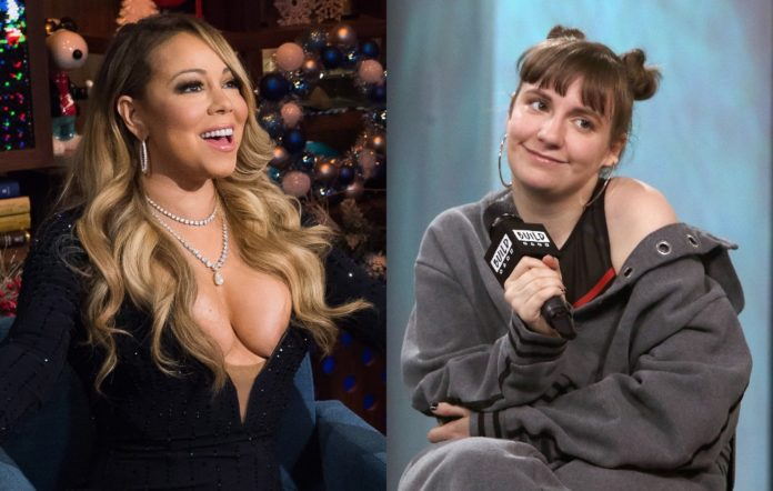 Mariah Carey (L) and Lena Dunham (R)