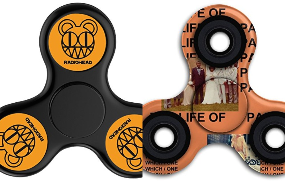 Radiohead and Kanye fidget spinners