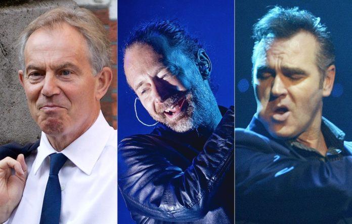 Tony Blair Thom Yorke Morrissey