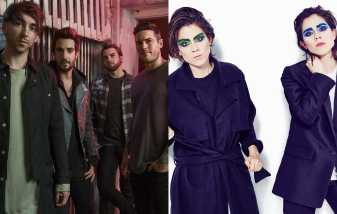 All Time Low and Tegan & Sara