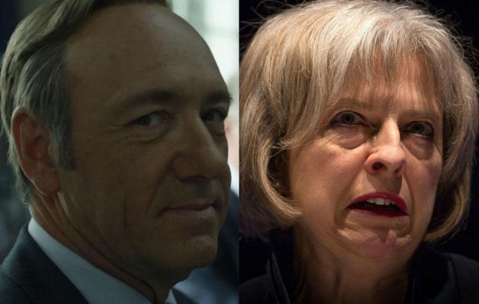 House of Cards tweets Theresa May
