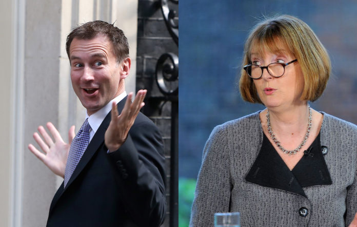 Jeremy Hunt, whom Harriet Harman accidentally called 'Jeremy Cunt' on Question Time
