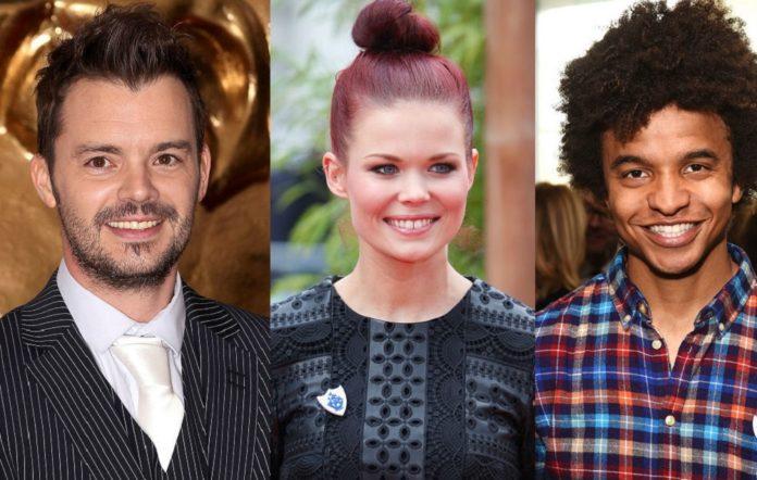 'Blue Peter' presenters Barney Harwood, Lindsey Russell and Radzi Chinyanganya
