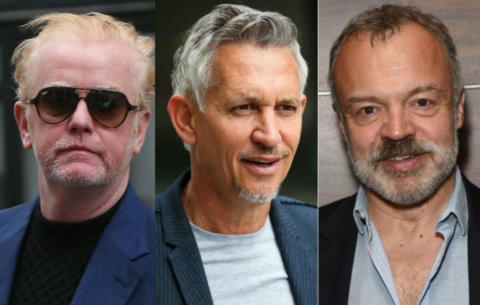Chris Evans, Gary Lineker, Graham Norton
