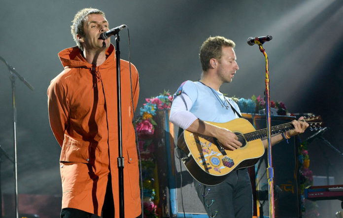 Liam Gallagher Chris Martin