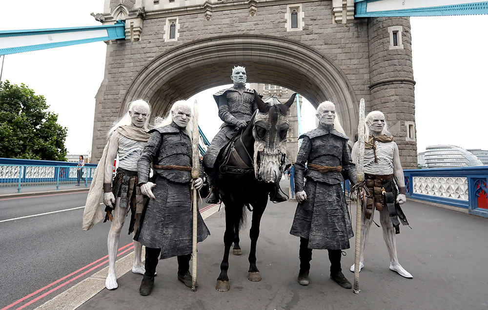Game of Thrones White Walkers in London