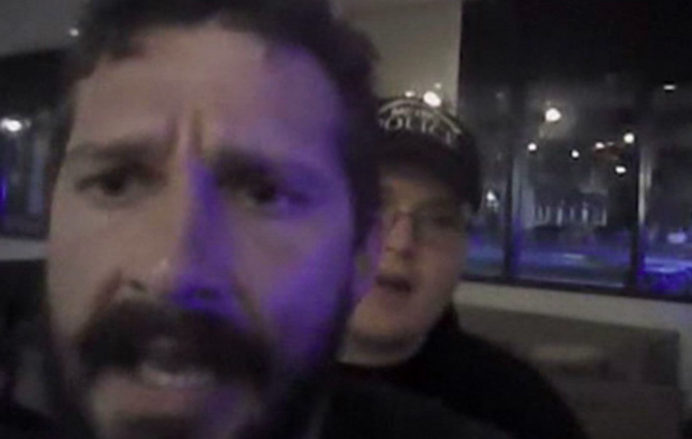 Shia LaBeouf being arrested