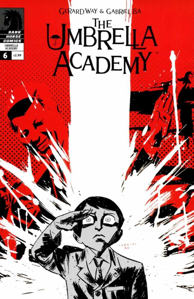 A cover of the 'Umbrella Academy' comic