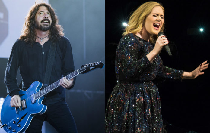 Foo Fighters' Dave Grohl and Adele