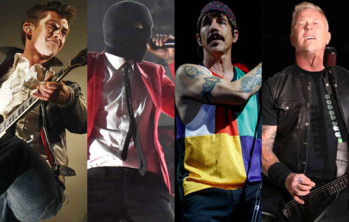 Arctic Monkeys, Twenty One Pilots, Red Hot Chili Peppers and Metallica