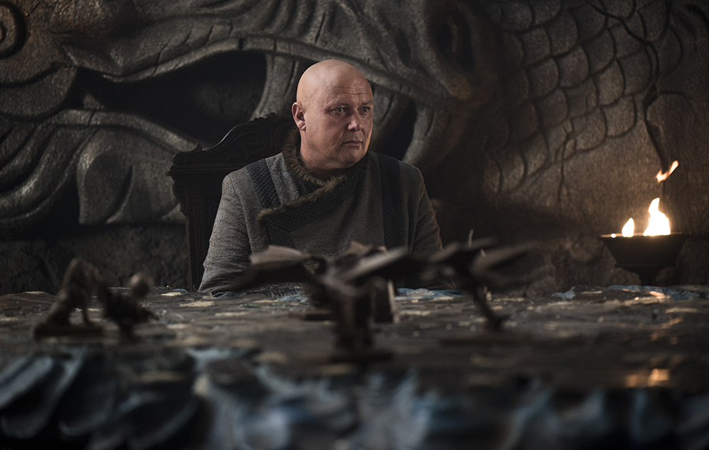 Conleth Hill as Varys in Game of Thrones season 7 episode 5:Eastwatch