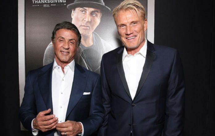 Sylvester Stallone and Dolph Lundgren