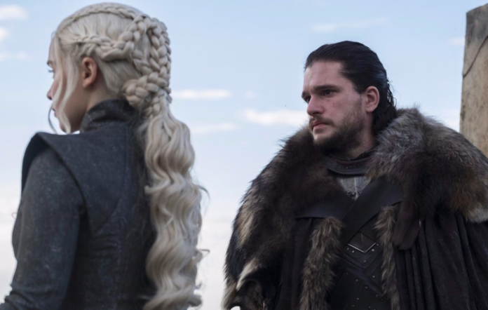 Daenerys and Jon Snow in 'Game Of Thrones'
