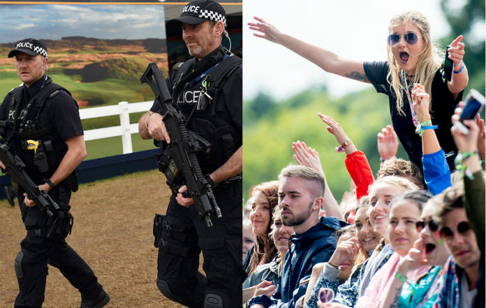 Armed police will patrol V Festival 2017 to increase security. Credit: Getty