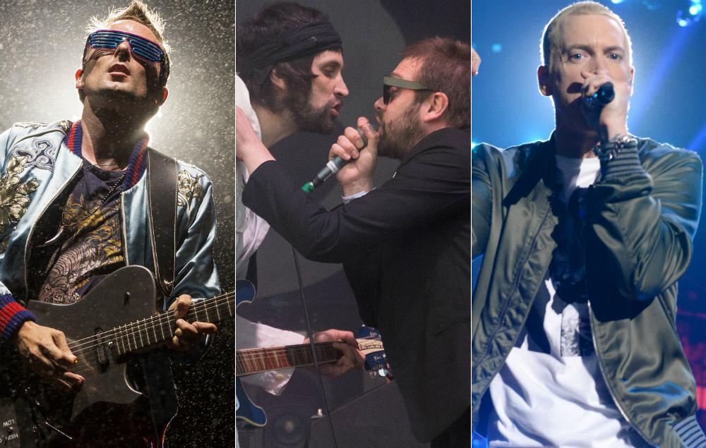 Muse, Kasabian, and Eminem