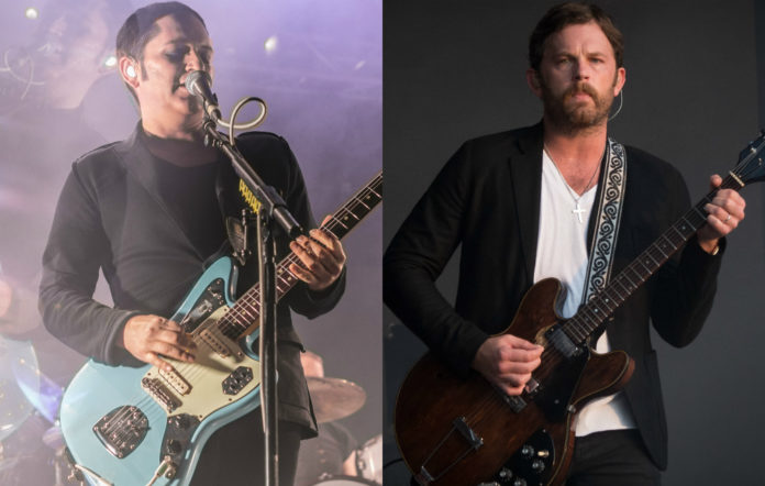 Placebo's Brian Molko and Kings Of Leon's Caleb Followill